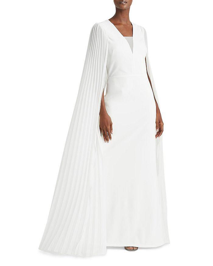 Ralph Lauren - Pleated Cape Crepe Gown