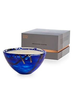 Kosta Boda - Home Fragrance Collection Contrast Candle, Coastal Bloom Scent