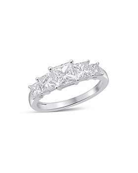 Bloomingdale's - Princess Cut Diamond 5 Stone Band in 14K White Gold, 2.0 ct. t.w.