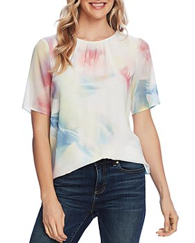 VINCE CAMUTO - Watercolor Chiffon Top