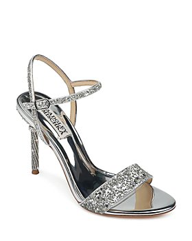 Badgley Mischka - Women's Olympia Glitter & Crystal High Heel Sandals