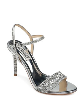 Badgley Mischka - Women's Olympia Glitter & Crystal High Heel Sandals
