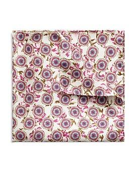 Eton - Round Flowers Silk Pocket Square