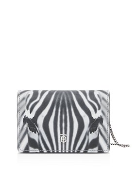 Burberry - Zebra Print Leather Card Case with Detachable Strap