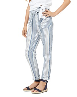 Habitual Kids - Girls' Adalyn Paper Bag Striped Pants - Little Kid, Big Kid
