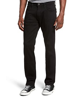 PAIGE - Federal Slim Fit Jeans in Black Shadow
