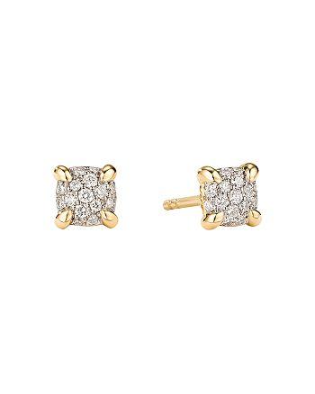 David Yurman - Petite Châtelaine® Stud Earrings in 18K Yellow Gold with Diamonds