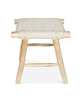 Baum-Essex - Ventura Woven Rope and Teak Bath Stool
