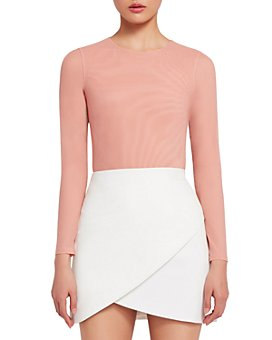 Alice and Olivia - Nara Fitted Long Sleeve Bodysuit