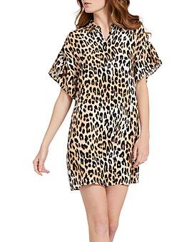 Alice and Olivia - Jude Leopard Print Shirt Dress