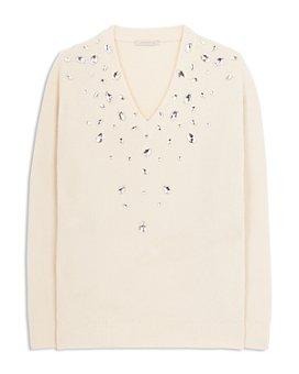 CHRISTOPHER KANE - Embellished Cashmere & Silk Sweater