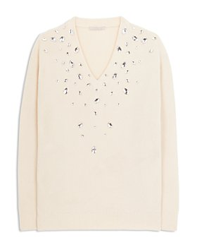 CHRISTOPHER KANE - Embellished Cashmere & Silk Sweater