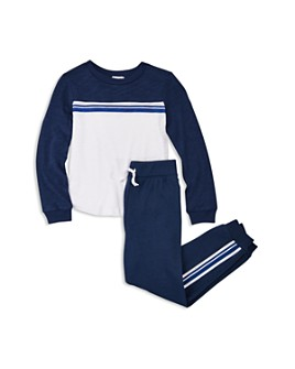 Splendid - Boys' Striped Taping Top & Jogger Pants Set - Little Kid