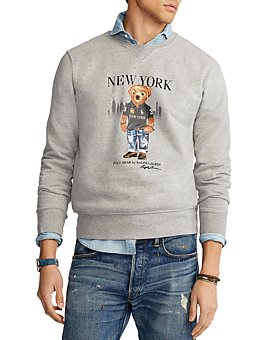 Polo Ralph Lauren - New York Bear Cotton Blend Graphic Sweatshirt