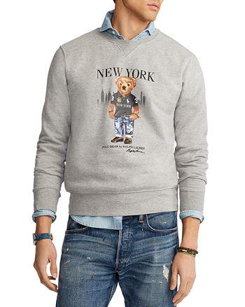 Polo Ralph Lauren - New York Bear Cotton Blend Graphic Sweatshirt