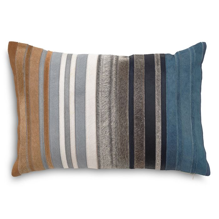 "Mitchell Gold Bob Williams - Multi Hide Stripe Decorative Pillow, 20"" x 14"""