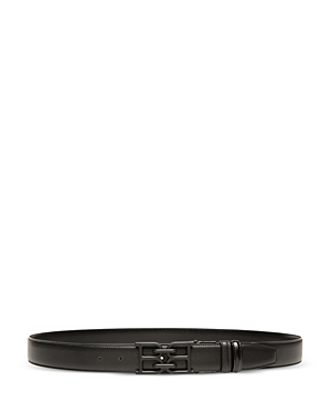 Bally Men\\\'s Tonal B Chain Adjustable Leather Belt-Men