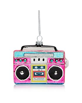 Bloomingdale's - Glass Pink Radio Ornament - 100% Exclusive