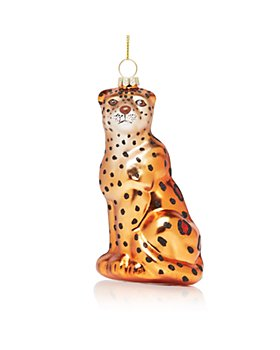 Bloomingdale's - Glass Leopard Ornament - 100% Exclusive