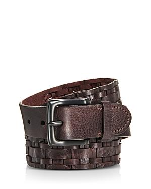 Frye Woven Leather Belt-Men