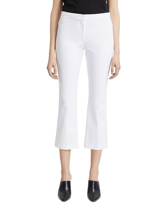 Theory CROPPED FLARE LEG PANTS
