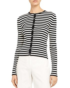 Theory - Gal Striped Ribbed Cardigan