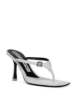 Alexander Wang - Women's Ivy 65 Embellished High Heel Thong Sandals
