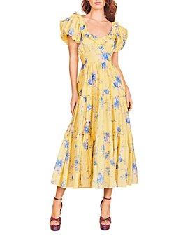 LoveShackFancy - Emory Puff Sleeve Midi Dress