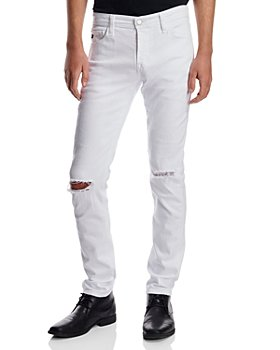 AG - Dylan Distressed Jeans in White Smoke