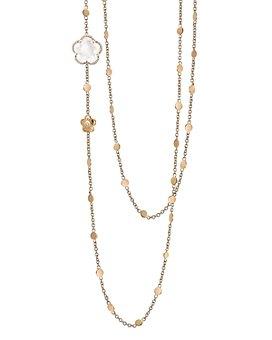 "Pasquale Bruni - 18K Rose Gold Bon Ton Floral Gemstone & Diamond Necklace, 26"""