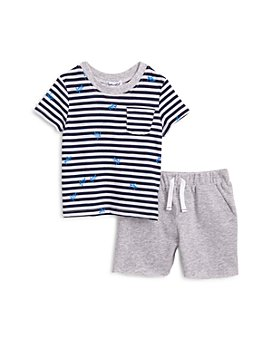 Splendid - Unisex Striped Turtle Print Tee & Shorts Set - Baby