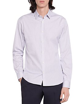 Sandro - Linear Micro Stripe Slim Fit Button Down Shirt