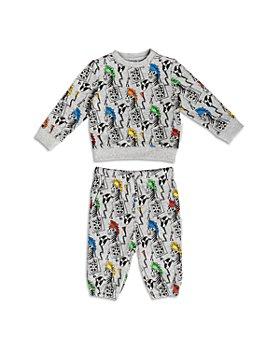 Stella McCartney - Boys' Cotton Zebra DJ Print Sweatshirt & Pants Set - Baby