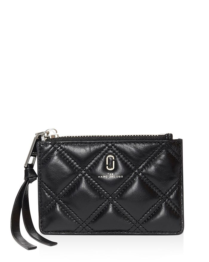 MARC JACOBS - Quilted Softshot Leather Top Zip Wallet