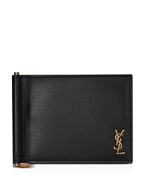 Saint Laurent Portadoll (181Y)T Monogram Clip Wallet-Men