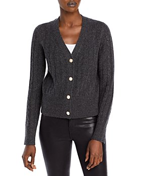 C by Bloomingdale's - Faux Pearl Button Cashmere Cardigan - 100% Exclusive