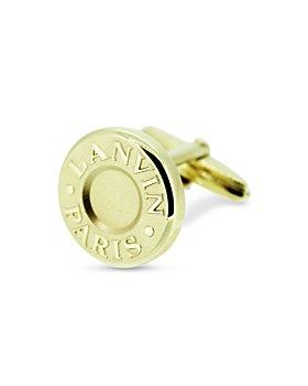 Lanvin - Gold Plated Round Cufflinks