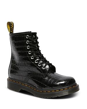 Dr. Martens Women\\\'s 8 Eye Embossed Boots