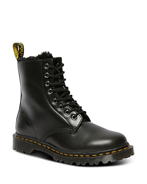Dr. Martens Women\\\'s 8 Eye Faux Fur Lined Boots