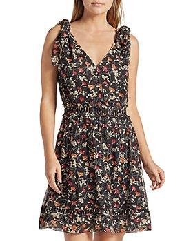 Joie - Huntlie Floral Print A Line Silk Dress