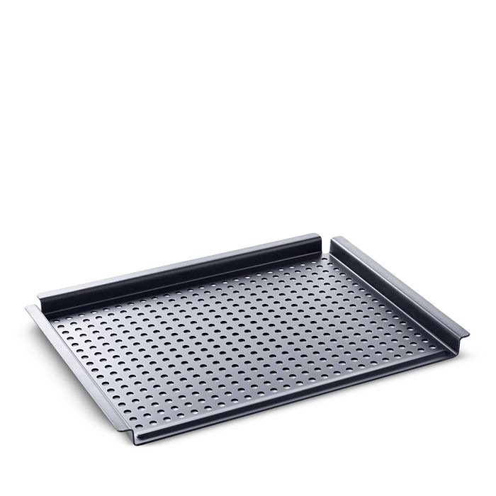 BK Cookware - Black Steel BBQ Perforated Grill Tray, 17""