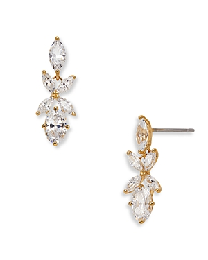 Nadri Leilani Cubic Zirconia Flower Drop Earrings