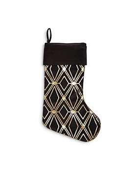 Bloomingdale's - Geometric Gold Stocking - 100% Exclusive