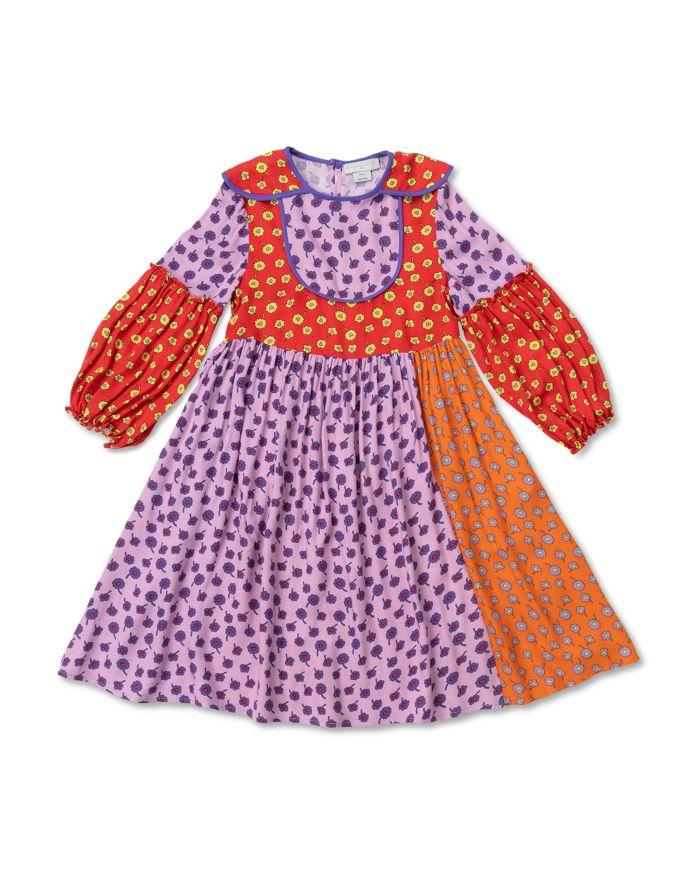 Stella McCartney Girls' Patchwork Floral Print Dress - Big Kid    Bloomingdale's
