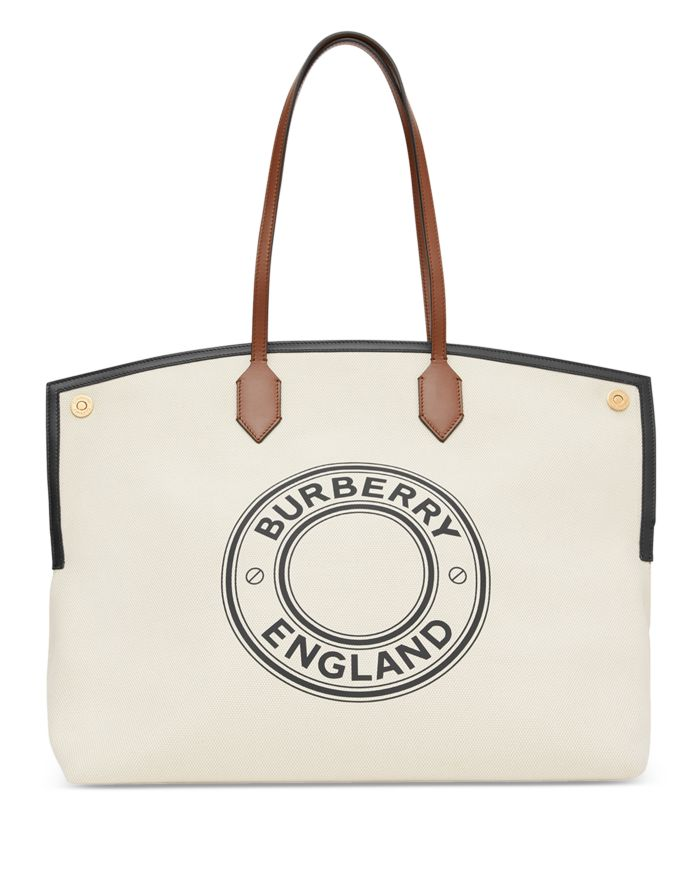 Burberry Society Extra Large Cotton Tote  | Bloomingdale's