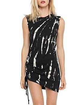 PAM & GELA - Tie Dyed Cotton Bodycon Mini Dress