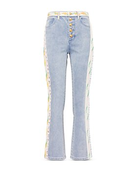 Tory Burch - Embellished Flare Jeans in Super Bleach