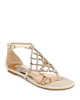 Badgley Mischka - Women's Zoanne Crystal Cage Thong Sandals