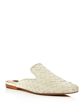 AQUA - Women's Kiara Woven Square Toe Mules - 100% Exclusive