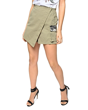 Pinko Brendon Front Overlay Printed Trim Shorts-Women